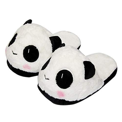 Inverno caldo pantofole lovely cute panda soft plush anti-skid casa cotone slipper shoes (taglia unica eu 35-39)