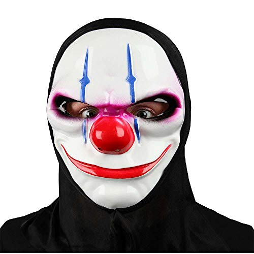 Freaky Clown Mask with Hood for Fancy dress Accessory