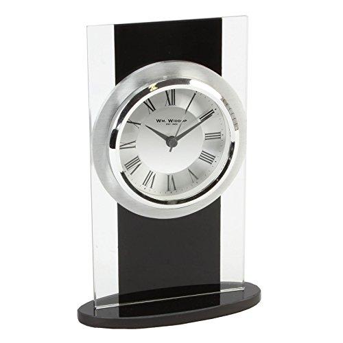Glas und schwarz Modern Mantel Uhr