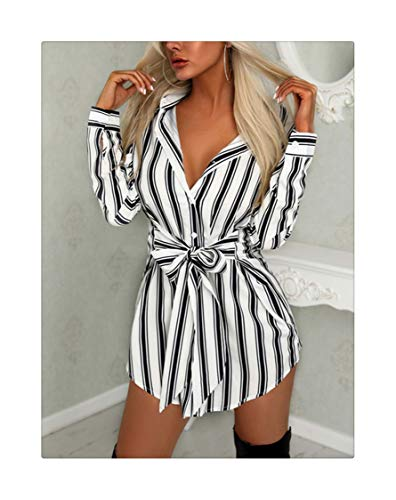 MLULPQ& 2019 Women Summer Casual Ladies Holiday Beach Sexy Regular Stripes Round hems Dress Bowknot Strappy Long Sleeves Dress Shows M