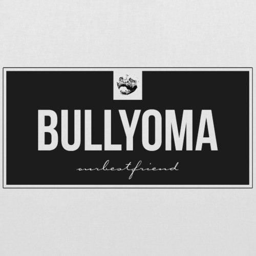 Spreadshirt Bully Oma Bulldogge Bullyoma Hund Stoffbeutel Weiß