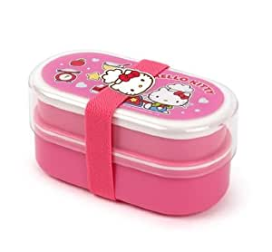lock lock hello kitty pink japanese lunch box bento sandwich box girl kids women lkt701dp. Black Bedroom Furniture Sets. Home Design Ideas