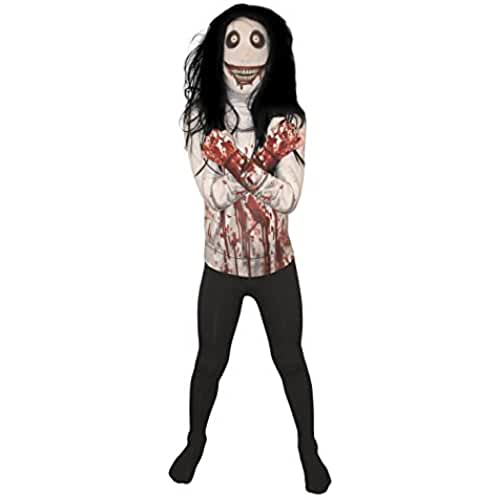 Jeff la Killer Kids Monster Morphsuit Disfraz – Tamaño Grande (120cm-137cm)
