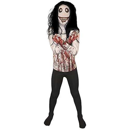 Jeff la Killer Kids Monster Morphsuit Disfraz–Tamaño Grande (120cm-137cm)