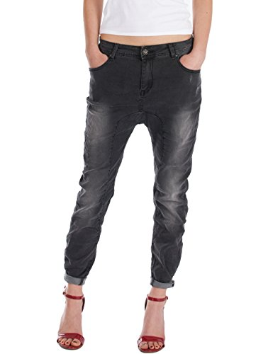 Fraternel Damen Jeans Hosen Baggy used relaxed loose fit Schwarz M / 38 - W30 (Jeans Flare Easy Fit)