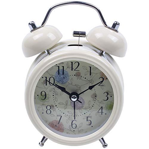 Cikuso Estilo Retro Doble Campana DE Viento DE Reloj