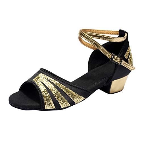LILICAT Kinder Latin Dance Tango Schuhe Tanzschuhe Praxis Schuhe Prinzessin Schuhe einzelne Schuhe Coole Schuhe Mädchen Partei Prinzessin Sandalen Kinder Schuhe -