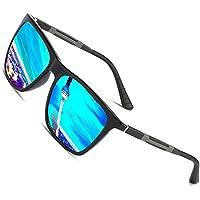 Gafas de sol polarizadas Hombre Mujer vasos para Outdoor Sport, 100% protección UVA/UV 400 gafas unisex Moderno conductores para golf/conducción Outdoor Sport Pesca/Deportes Ultra Ligero Gafas de sol (Blue)