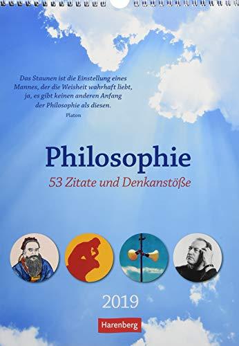 Philosophie - Kalender 2019: 53 Zitate und Denkanstöße