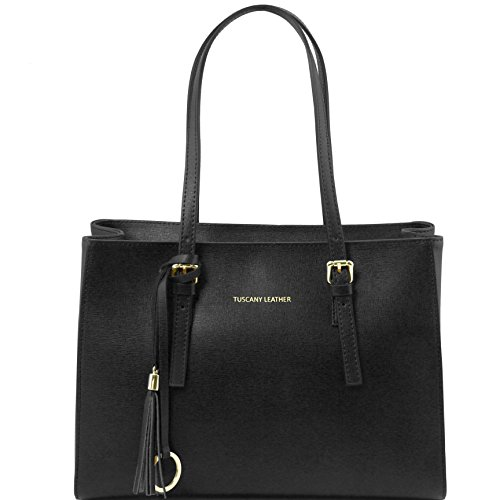 81415184 - TUSCANY LEATHER: TL BAG - Sac à main en cuir Saffiano, Noir