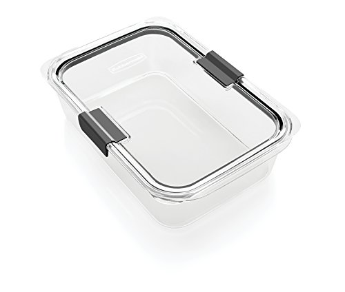 Rubbermaid Brilliance Food Storage Container, BPA-free Plastic, Large, 9.6 Cup, Clear by Rubbermaid