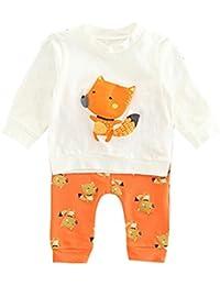 SMARTLADY Recién nacido bebé Fox Sudaderas y Pantalones Conjunto Niño Niña Ropa