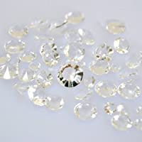 Lot de 200 confettis diamants pour décoration de table - Couleur : Transparent - 12 mm