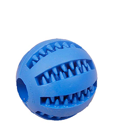SONGYANG Haustier Hund Spielzeug sauber Zahnkugel Großhandel Teddy Welpen Dekompression elastischen Gummiball Hundespielzeug Haustierspielzeug,Blue -