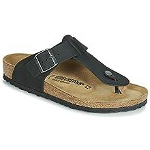 Birkenstock Tongs Medina Cuir Gras Noir, Men's Sandal, Noir, 10.5 UK (45 EU)