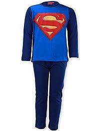 Garçons officiel Superman long Longueur Coton Imprimer Pyjama 6 ans à 12 ans