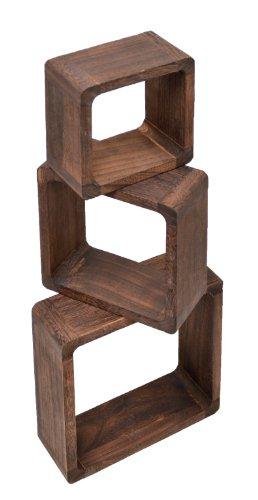 Ts Ideen 3er Set Lounge Cube Regal Holz Landhaus Stil Wandregal