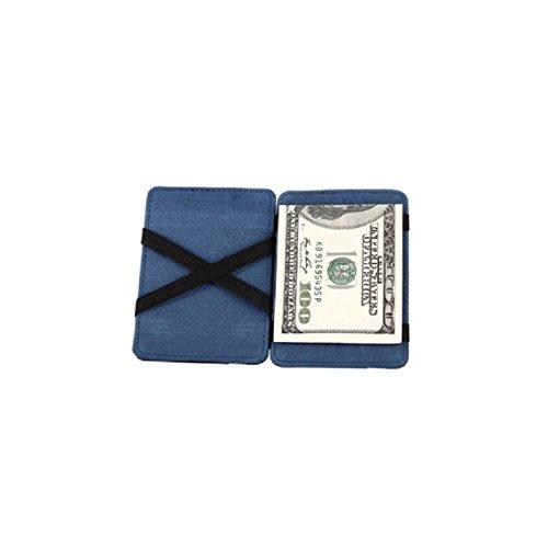 DDLBiz® Mini neutrale Grind magische Bifold Leder Card Wallet Geldbörse (Blau) (Wallet-geldbörse Bi-fold)