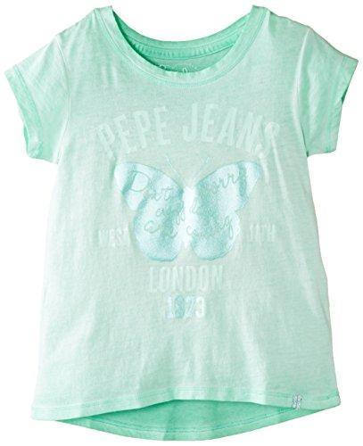 Pepe Jeans Mädchen T-Shirt Gr. 6 Jahre, Grün - Green (Mojito) (Mojito Green)