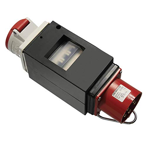 as - Schwabe MIXO Adapter / Stromverteiler NAHE – CEE-Stecker auf 5-polige CEE-Steckdose – Robuster Starkstrom-Verteiler für Baustelle und Gewerbe – IP44 – Made in Germany I 60703