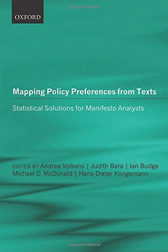 Portada del libro Mapping Policy Preferences from Texts: Statistical Solutions for Manifesto Analysts by Andrea Volkens (2014-01-14)