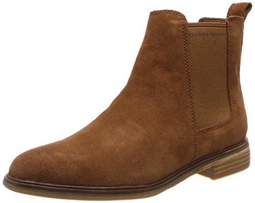 Clarks Damen Clarkdale Arlo Chelsea Boots, Braun (Dark Tan Suede), 39 EU (Clarks-stiefel Damen Braun)
