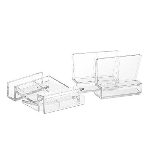 4X Soportes para Tapa en Acuario o Gambario, en Vidrio Cristal de 6mm