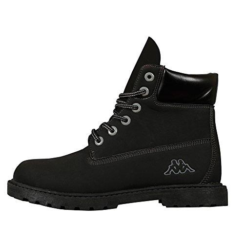 Kappa - Kombo Mid Footwear Unisex, Alte Scarpe Da Ginnastica, unisex, nero (1116 black/grey), 36
