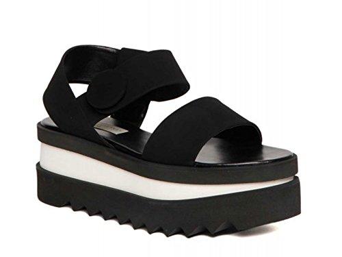 Sandali zeppa Stella McCartney in finta pelle nero - Codice modello: 372505 W0J50 1000 - Taglia: 41 IT
