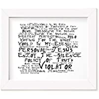 Depeche Mode Art Print - Violator - Unframed Lyrics Poster