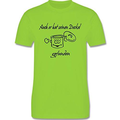JGA Junggesellenabschied - Auch er hat einen Deckel gefunden - Herren Premium T-Shirt Hellgrün