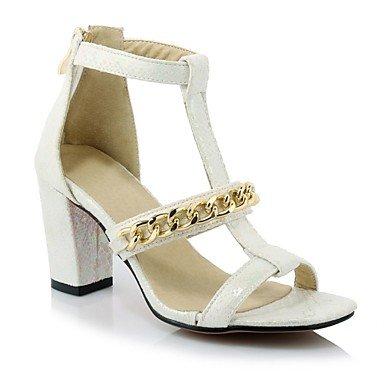 LvYuan Da donna-Sandali-Casual-Altro-Quadrato-Materiali personalizzati-Nero Bianco White