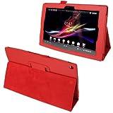 Fundas para Tablet PC Funda de Cuero de Textura de Litchi con Soporte para Sony Xperia Tablet Z /...