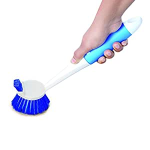 Cello Dual Action Kleeno Sink and Dish Brush (Blue and White)