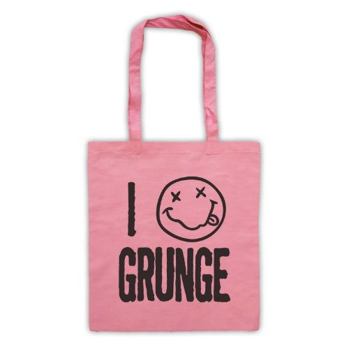 "Scritta in inglese ""I Love-Borsa stile Grunge Rosa"