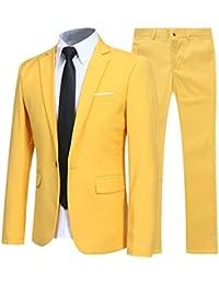 d5087ae5e74f Costume Homme d affaire en cérémonie Mariage Veste et Pantalon Deux pièce  Slim fit