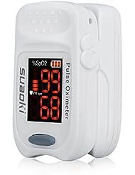 Suaoki SPO2 Finger Pulsoximeter mit LED Farbdisplay und Zubehör FS10A - Ermittelt Sauerstoffsättigung / Herzfrequenz