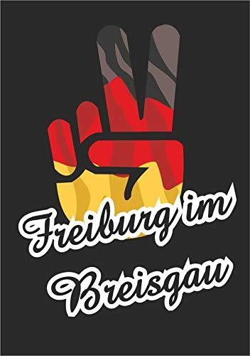INDIGOS UG - Aufkleber - Autoaufkleber - Sticker - Deutschland - Stadt Freiburg im Breisgau - ca. 50x39 cm - Victory - Sieg - Heckscheibe, Kofferraum, Laptop, Fussball, Sport, Schule, Tuning