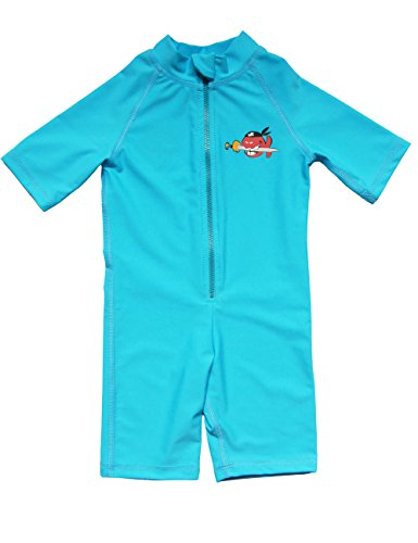IQ-Company Kinder Uv Kleidung 300 Shorty Kiddys, Turquoise, 104 (4-5 years)