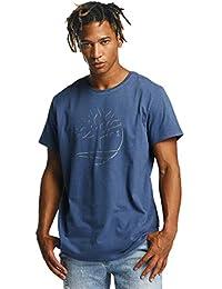 Timberland Mens Dead Reflective T-Shirt In Denim- Short Sleeve- Straight Hem-