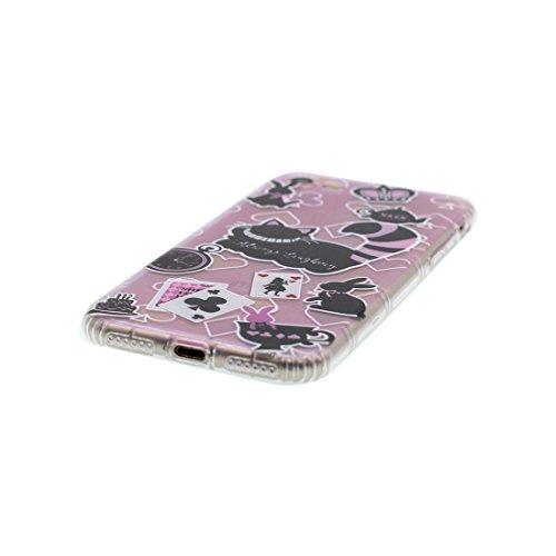 iPhone 6s Plus Custodia, Prova di scossa anti-graffio [ Cartoon Disney sirena fiore ] TPU Silicone Trasparente Nuovo Gel Soft Case iPhone 6/6S Plus Custodia (5.5 pollici) durevole Cartoon Cover # # 2