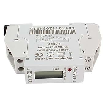 Le régime DDS 238–1 Rail monophasés Energe m Micro Affichage LCD numérique 5 Hz 32 A