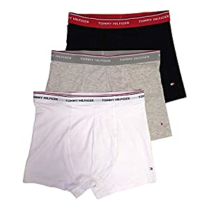 41b6YLCnPGL. SS300  - Tommy Hilfiger Boxers para Hombre Pack de 3 (Black, White, Grey Heather)