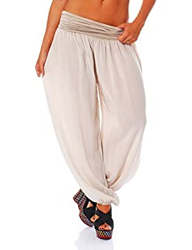 malito Pantaloni alla zuava Aladin Harem Pantaloni Boyfriend Sbuffo Pump Baggy Yoga 1482 Donna Taglia Unica