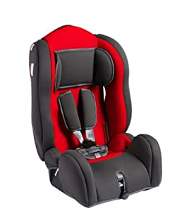Glob Kids - 5027 - Siège Auto - Groupe 1 / 2 / 3 - Star Comfort - Gris / Rouge