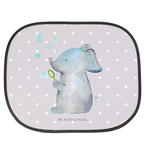 Mr. & Mrs. Panda PKW, Kinder, Auto Sonnenschutz Elefant Seifenblasen - Farbe Grau Pastell