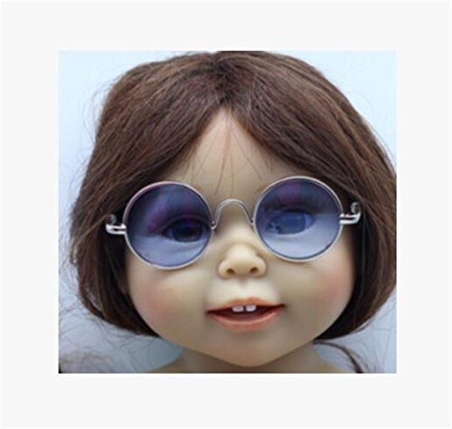 Tery Kinder Puppen Ornamente 16 Zoll American Doll Brille (blau) (Kleidung 16 In Puppe)