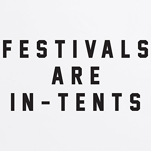 Festivals Are In-Tents Boyfriend Cut T-Shirt, Herren Wei