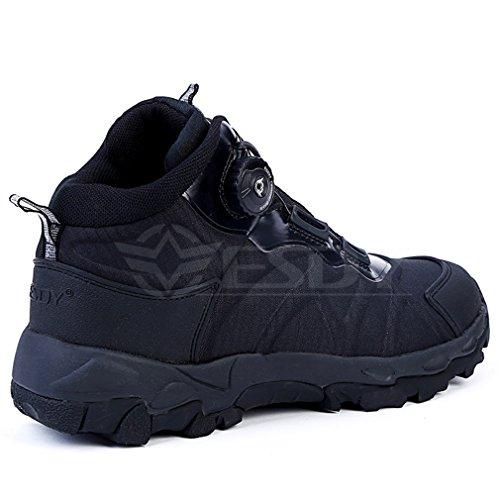 emansmoer Uomo Impermeabile Traspirante Esercito Militare Outdoor Stivali Sport Scarpe da Trekking Escursionismo Nero