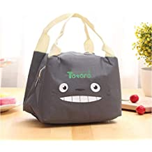 TheTickleToe Cartoon Cute Lunch Bag Insulated Cool Bag for Lunch for Adults/Men/Women/Kids, Water-Resistant Leakproof Soft Cooler Bag Box Thermal Box for Work/School/Outdoor Activities toroto Grey